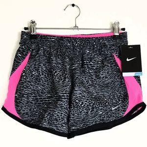 Nike animal print exercise shorts